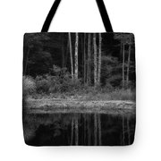 The Bush By The Lake Bw Tote Bag