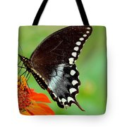 The Butterfly And The Zinnia Tote Bag