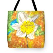 The Buzzing Life Of A Spring Narcissus Tote Bag