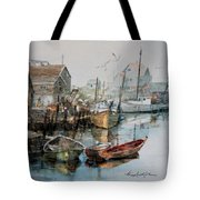 The B'y That Catches The Fish Tote Bag by Hanne Lore Koehler