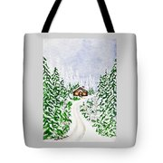 The Cabin Tote Bag by Judy M Watts-Rohanna