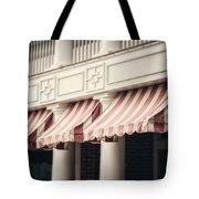 The Cafe Awnings At Chautauqua Institution New York  Tote Bag