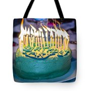 The Cake Is On Fire Tote Bag