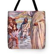 The Call Of Andrew And Peter Tote Bag by Harold Copping