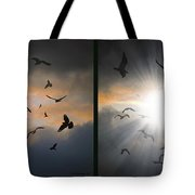 The Call - The Caw - Gently Cross Your Eyes And Focus On The Middle Image Tote Bag