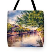 The Canal In Downtown Scottsdale Tote Bag