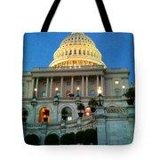 The Capitol At Dusk Tote Bag
