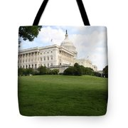 The Capitol Hill View Washington Dc Tote Bag