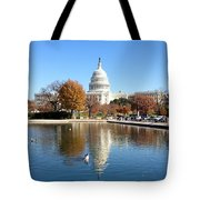 The Capitol In Fall Tote Bag