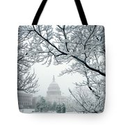 The Capitol In Snow Tote Bag