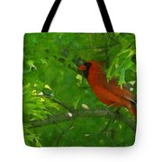 The Cardinal Painterly Tote Bag