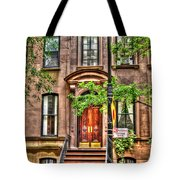 The Carrie Bradshaw Stoop From Sex And The City Tote Bag