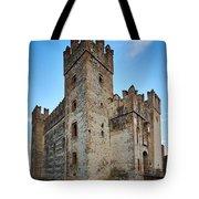 The Castle Of Sirmione. Lago Di Garda Tote Bag