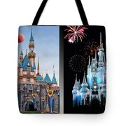 The Castles Of Disney 2 Panel Vertical Tote Bag