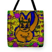 The Cat And His Fish Popart Tote Bag