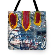 The Tabby Cat Saw The Lights Tote Bag