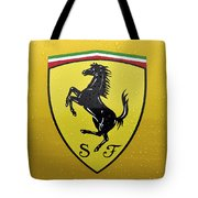 The Cavallino Rampante Symbol Of Ferrari Tote Bag
