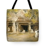 The Cave Of Elephanta, From India Tote Bag
