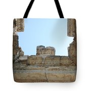 The Ceiling Of The Tetrapylon Aphrodisias Tote Bag by Tracey Harrington-Simpson