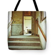 The Chair At The Top Of The Stairs Tote Bag