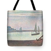 The Channel At Gravelines In The Evening Tote Bag