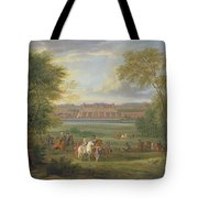 The Chateau Of Saint Germain Oil On Canvas Tote Bag