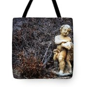 The Cherub And The Lamb Tote Bag