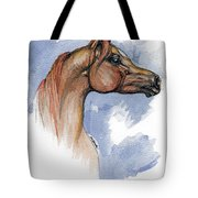 The Chestnut Arabian Horse 4 Tote Bag