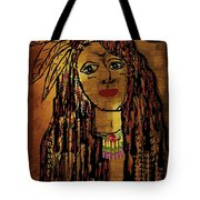 The Cheyenne Indian Warrior Brave Wolf Pop Art Tote Bag