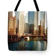The Chicago River From The Michigan Avenue Bridge Tote Bag