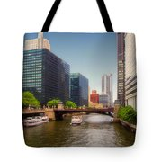 The Chicago River South Branch Tote Bag