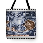 The Chocolate Factory Vintage Postage Stamp Tote Bag