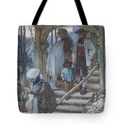 The Christening Gate In Lausanne, C.1861 Tote Bag by Matthijs Maris
