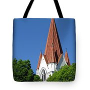 The Chuch Tower- Silute- Lithuania Tote Bag