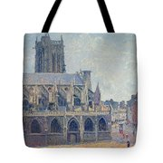 The Church Of St Jacques In Dieppe Tote Bag by Camille Pissarro