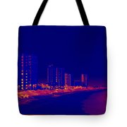 The City At The Beach Tote Bag