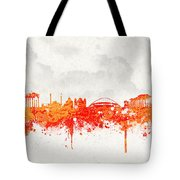 The City Of Athens Greece Tote Bag by Aged Pixel