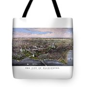 The City Of Washington Birds Eye View Tote Bag