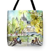 The City Park In Budapest 01 Tote Bag