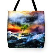 The Clearing Of The Flood Tote Bag