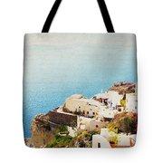 The Cliffside - Santorini Tote Bag