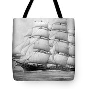The Clippership Taeping Under Full Sail Tote Bag