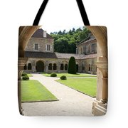 The Cloister Courtyard - Cloister Fontenay Tote Bag
