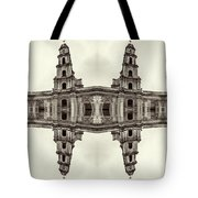 The Clones Of The Church Ruins Sepia Tote Bag