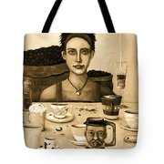 The Coffee Addict In Sepia Tote Bag