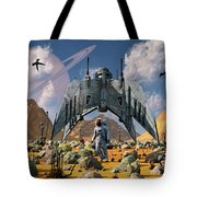 The Colonization Of An Alien World Tote Bag