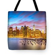 The Color Of New York City Tote Bag