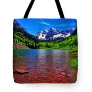 The Colors Of Maroon Bells In Summer Tote Bag