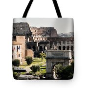 The Colosseum Through The Forum Tote Bag