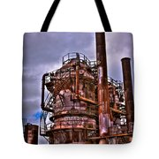The Compressor Building At Gasworks Park - Seattle Washington Tote Bag by David Patterson